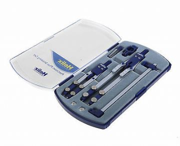 HELIX TECHNICAL PRECISION PLUS DRAWING SET Inc.Thumbwheel & Technical Compass